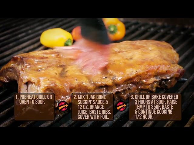 Bone Suckin' Sauce Fabulous Ribs Recipe