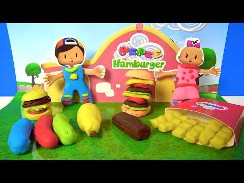 Pepee hamburger oyun hamuru seti aç?yoruz Pepee oyun hamuru ile Pepe yapt?k Pepee Niloya ve Bebee