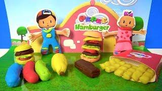 Pepee hamburger oyun hamuru seti açıyoruz Pepee oyun hamuru ile Pepe yaptık Pepee Niloya ve Bebee