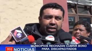 Municipios rechazan cubrir bono para discapacitados