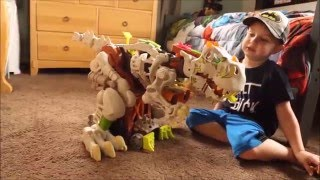 Imaginext Ultra T-Rex Robot Dinosaur 3 Figures 2 1/2 Feet Tall!!!