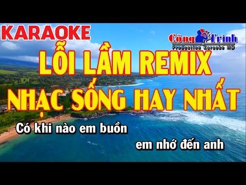 Karaoke | Lỗi Lầm Remix | Full Beat | DJ V7 MLA | Nhạc Sống Công Trình Karaoke | Khắc Huy Keyboard