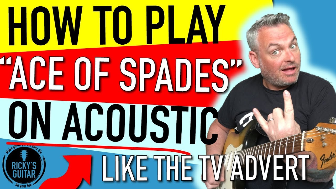 Ace of Spades Acoustic Guitar Lesson - Ace of Spades Slow The Pace
