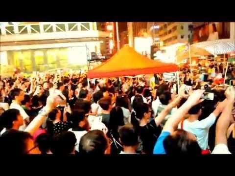 2014.10.01  香港 旺角  和平廣場 - 海闊天空(粵) 大家一起唱 !