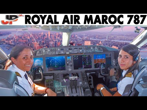 ROYAL AIR MAROC Ladies Piloting BOEING 787 to New York City