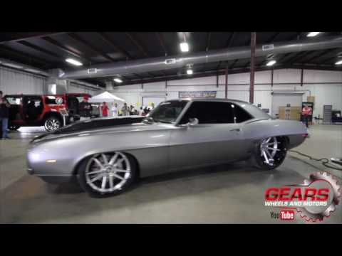 1969 Camaro Spins the the 24 x 15s Gears Wheels and Motors