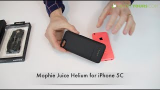 mophie juice pack helium for iPhone 5C review - Best iPhone 5C battery Case