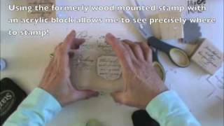 EASY! Converting Wood Mounted Stamps to Cling Mount Stamps