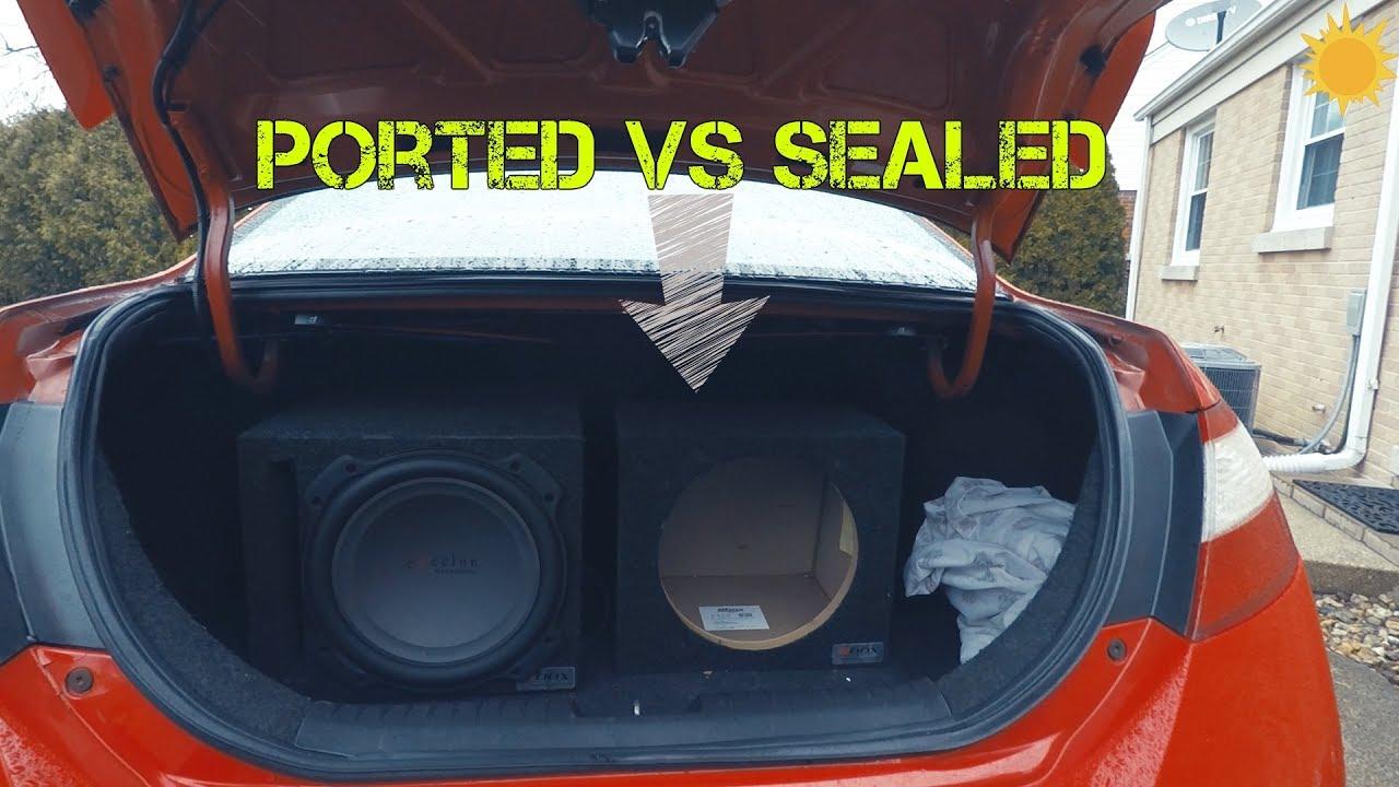 Subwoofer Enclosure: Sealed VS  Ported
