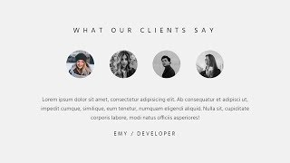 Amazing testimonial section using HTML CSS & JQuery