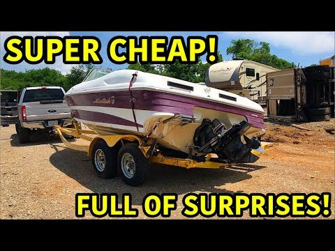 Rebuilding A Super Cheap Wrecked Boat