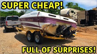 Download Rebuilding A Super Cheap Wrecked Boat Mp3 and Videos
