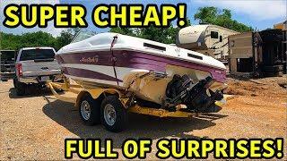 Rebuilding A Super Cheap Wrecked Boat