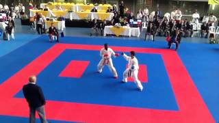 Jesus Costa Open 1st round vs Curacao Panamerican Karate Tournament Medellin Colombia 1