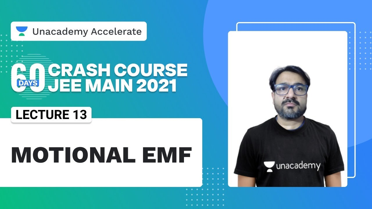Motional Emf | 60 Days Crash Course | JEE Main 2021 | AG Sir | Unacademy Accelerate