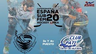 BRONCE/ SAB TUCANS ASME-CP CIUTAT DE VILA REAL /Camp. España Sub 20 Femenino Hockey Línea