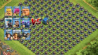 COC All Troops! Who Can Survive This Difficult Trap on COC? Trap VS Troops #coco 1 Chip GamePlays