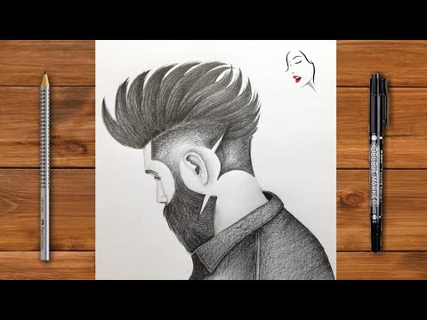 How to draw beautiful boy face Sketch Drawing - step by ...