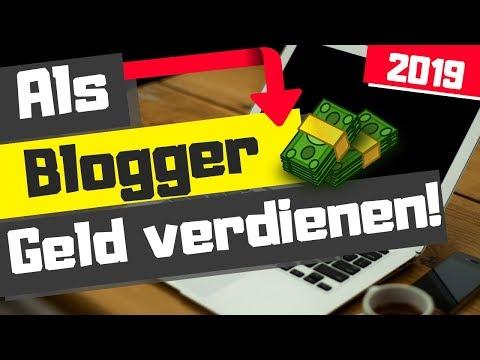 Geld verdienen mit Bloggen 2019 - Online Geld verdienen 2019 - Einen Blog schreiben!
