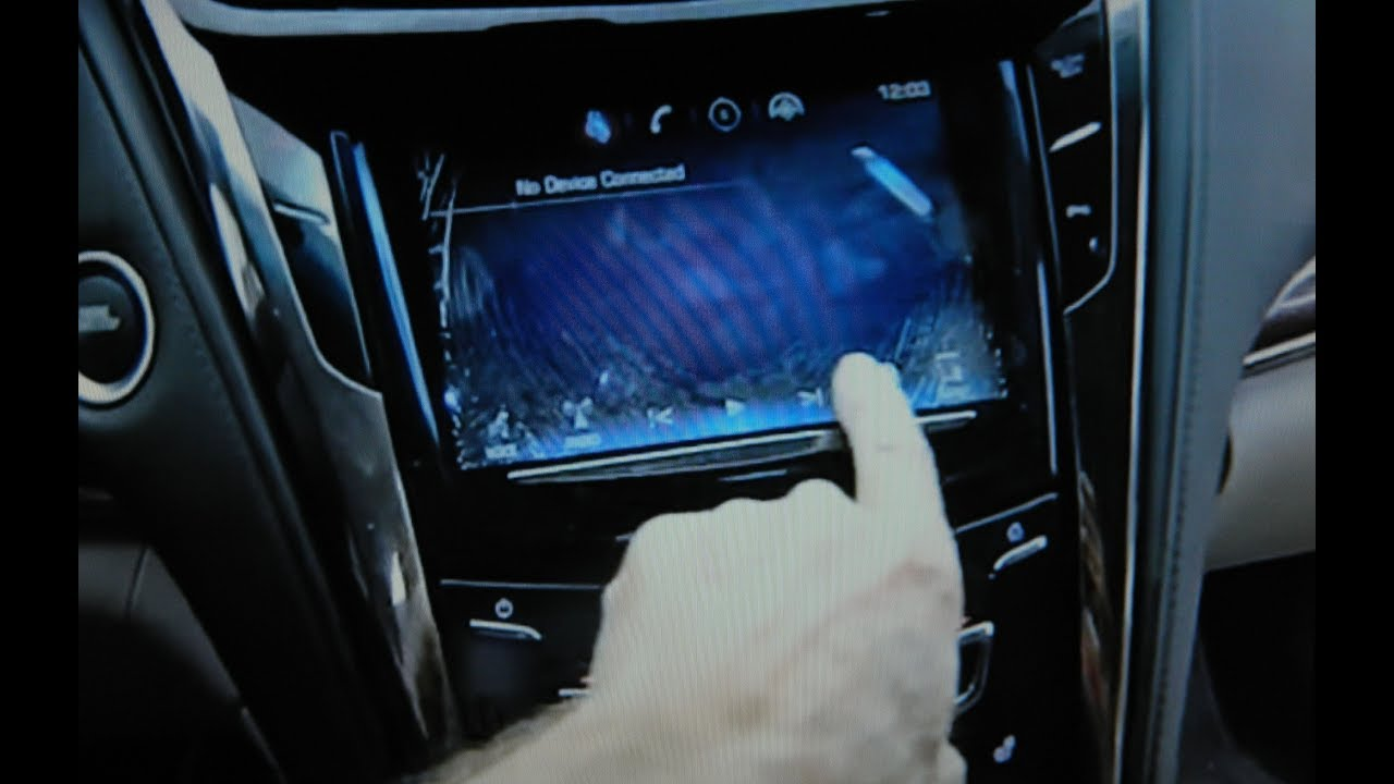 Cadillac CTS Cracked Display, Removal for Repair - YouTube