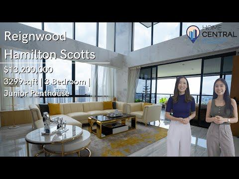 Inside a $13 Million Luxurious Junior Penthouse In Reignwood Hamilton Scotts | Singapore Home Tour