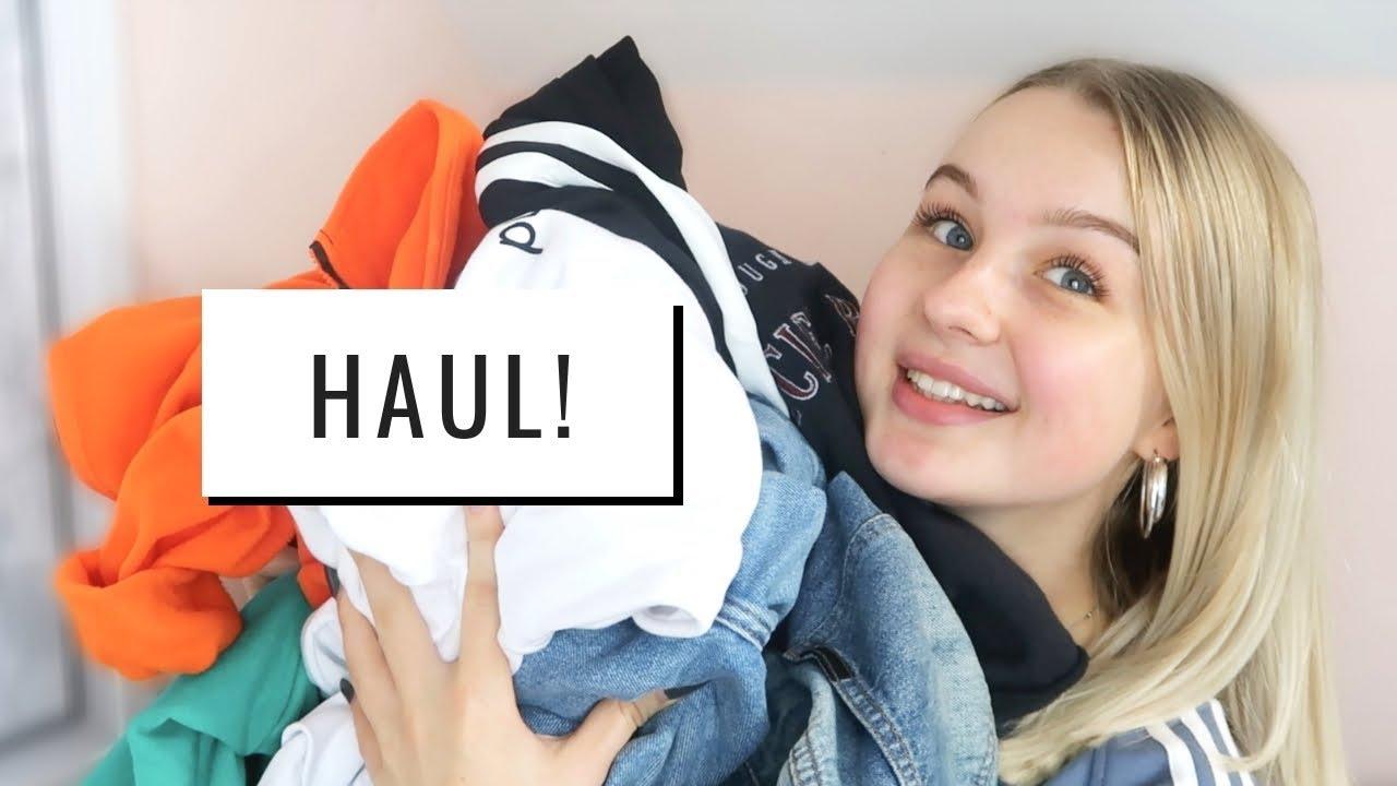 68c463d5eb6 AUTUMN TRY ON CLOTHING HAUL! | asos, bershka, nike & more! - YouTube