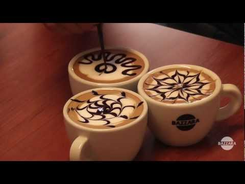 Latte Art tutorial: 3 topping patterns.