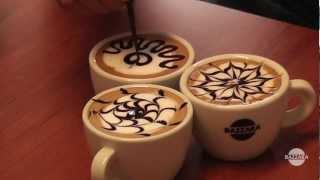 Latte Art tutorial: 3 topping patterns.
