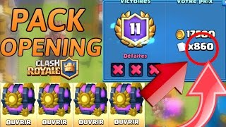 YOU OPEN A TRUNK OF 860 CARDS | PACK OPENING - Clash Royal (great challenge)