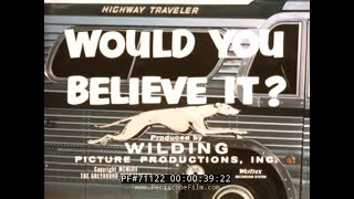 GREYHOUND BUS LINES GUIDED TOUR 1957 PROMOTIONAL FILM 71122