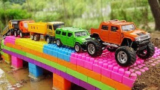 Build Bridge Blocks Toys for Children | Construction vehicles for kids thumbnail