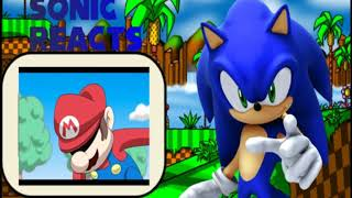 Sonic Reacts to Mario Vs Sonic Video Game Wars
