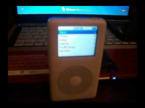 how to fix screen distortion on ipod classic