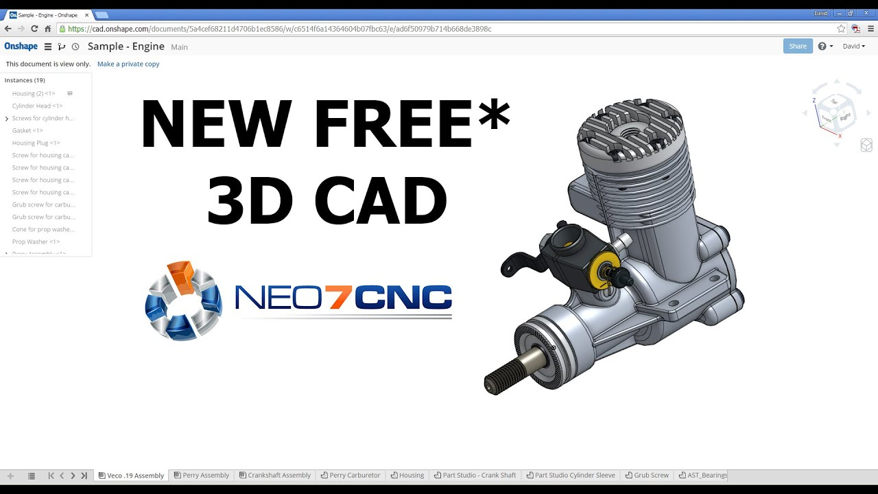 Homemade DIY CNC - NEW Free* 3D CAD Design Software - Neo7CNC.com ...