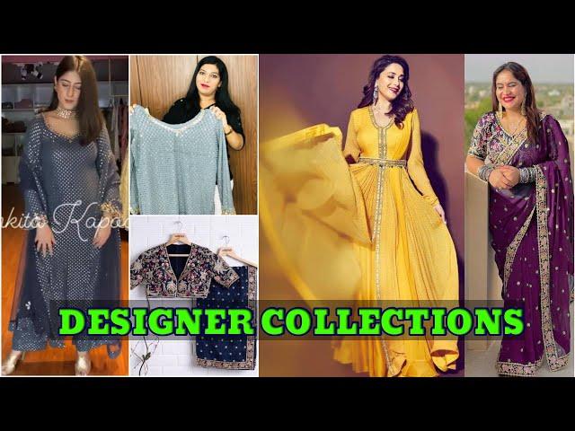 Festive Designer Saree/Madhuri yellow dress/readymade salwar kameez/online shopping #prititrendz