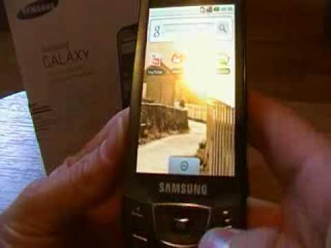 Test du Samsung Galaxy (I7500 )