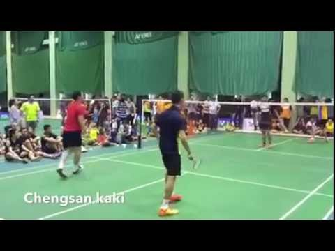 Lee Chong Wei and Koo Kean Keat play double with Thailand players