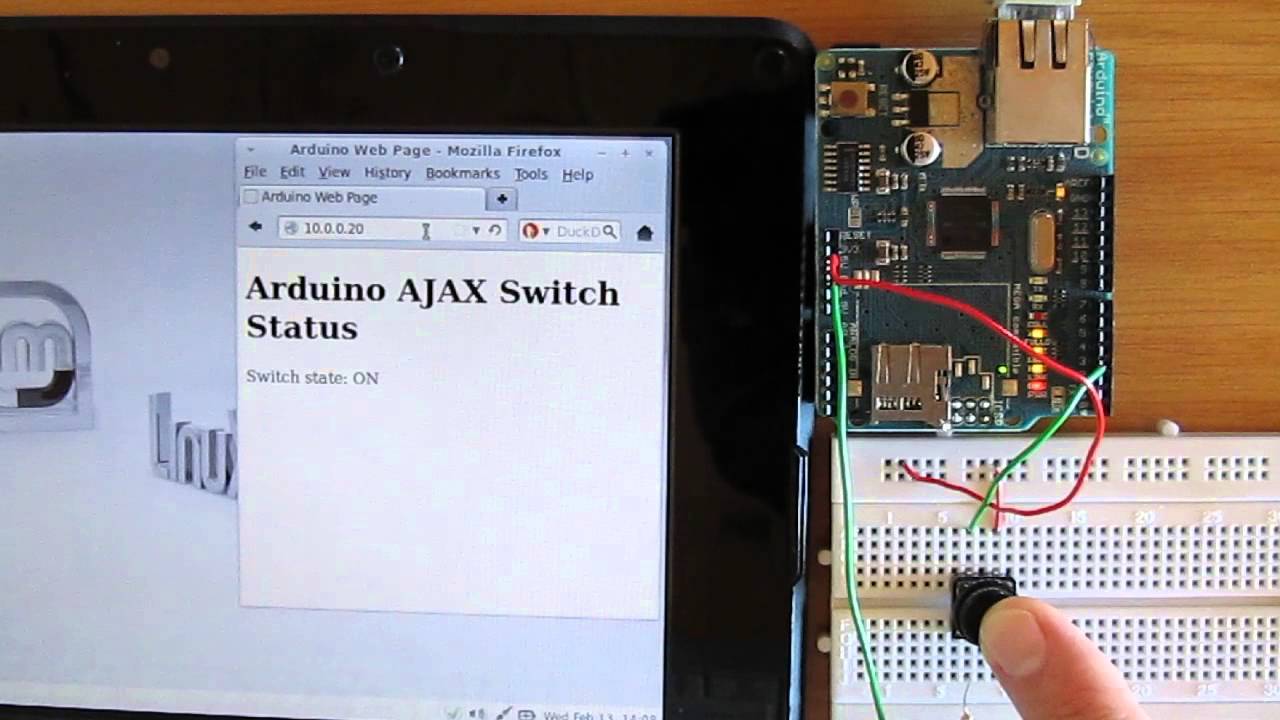 Arduino AJAX Web Server for Reading a Switch Automatically