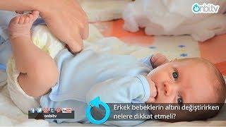 Erkek bebeklerin altı değiştirilirken nelere dikkat etmeli?