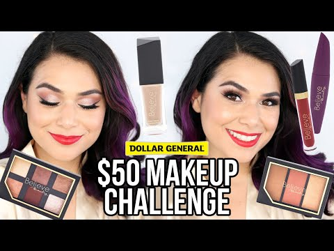 Full Face Of BELIEVE BEAUTY Makeup From Dollar General