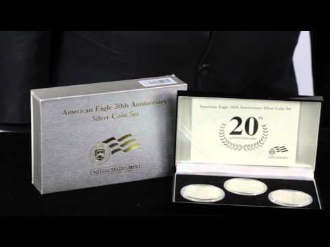 2006 20th Anniversary American Silver Eagle 3-Coin Set | Goldmart