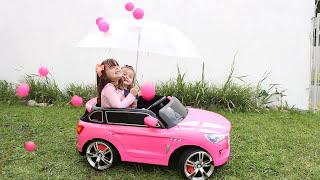 APRENDENDO CORES COM BOLINHAS | LEARN COLORS BALLS AND COLOR CARS  Rain Rain Go Away Nursery Rhymes