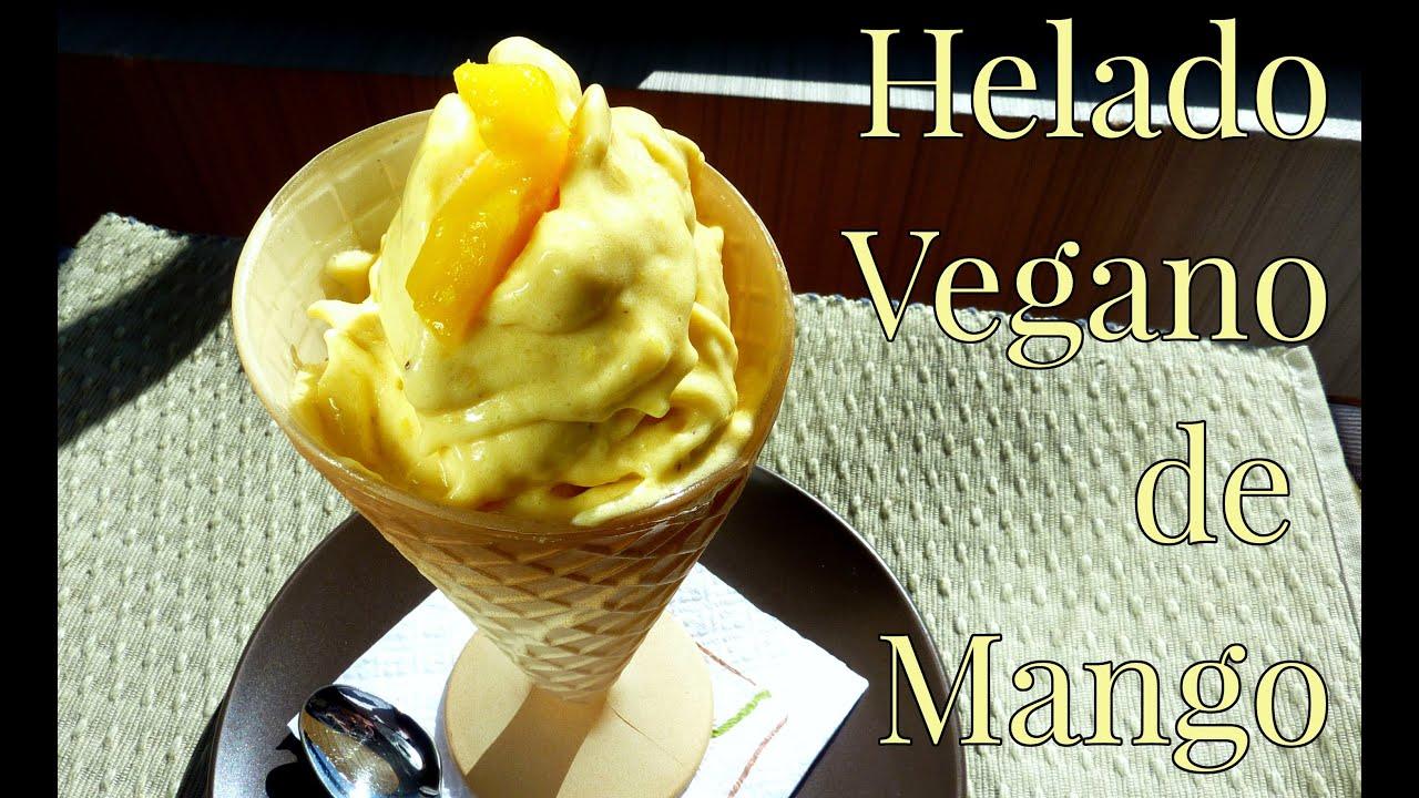 Cómo hacer Helado vegano de Mango  //  Mango Ice Cream / Receta Vegana