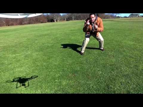 Drone flight over jamestown golf course