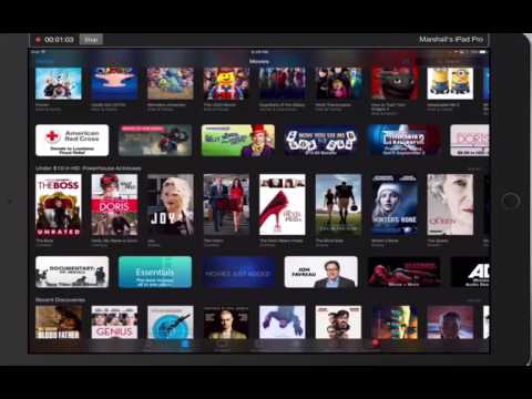 How to rent a movie from iTunes on an iPad