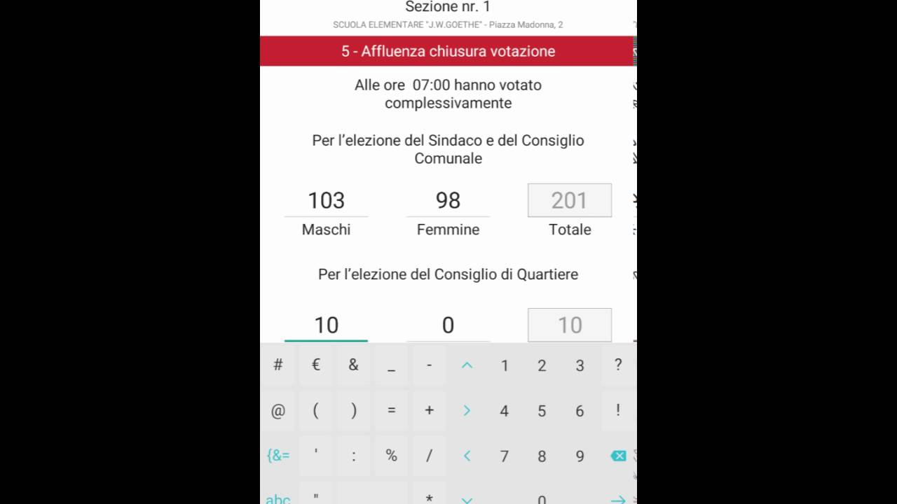 Viktor: a Delphi mobile app used in Bolzano during elections of