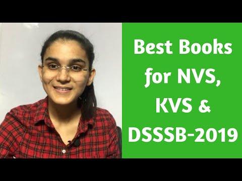 Best Books for NVS, KVS & DSSSB-2020