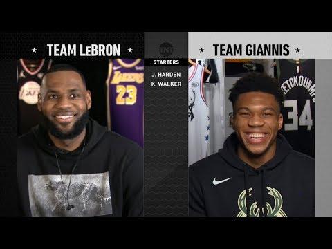 Team Lebron Team Giannis Full Draft 2019 Nba All Star