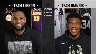 Team LeBron & Team Giannis Full Draft | 2019 NBA All-Star Video