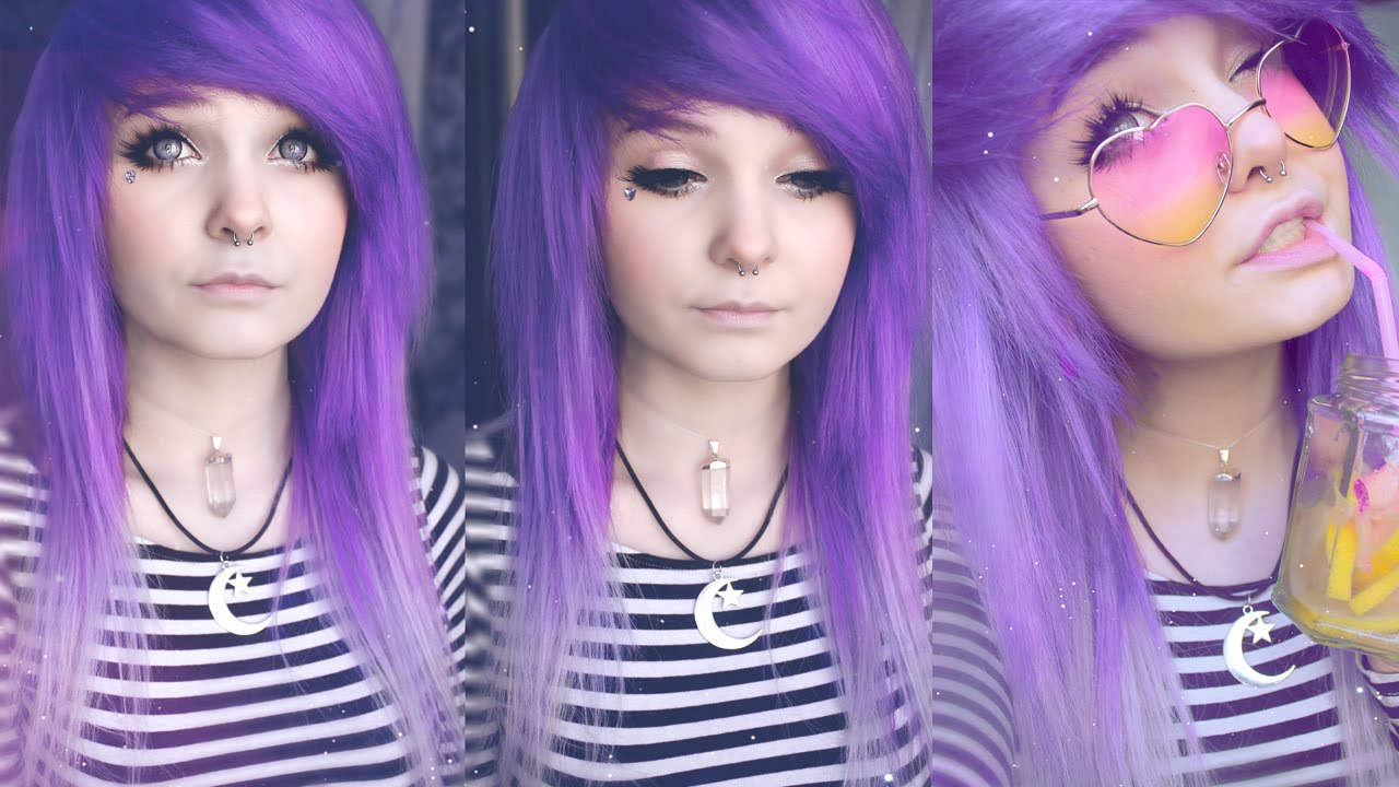 Emo Girl Live Wallpaper Dying My Hair Purple 3 Youtube